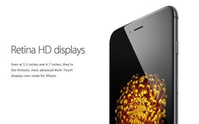 Het Retina scherm van de iPhone 6